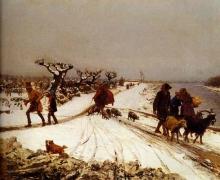 Giovanni Battista Quadrone, Ritorno dal mercato. Inverno in Piemonte
