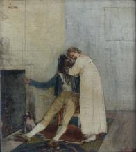 Giovanni Battista Quadrone, Studio con figure in un interno