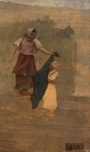 Giovanni Battista Quadrone, Studio per Il merciaiuolo ambulante in Sardegna