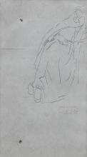 Giovanni Battista Quadrone, Studio per la variante della figura in Il Buffone