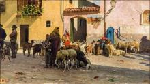 Giovanni Battista Quadrone, Un mattino di mercato in Piemonte