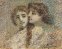 Daniele Ranzoni (attribuito a), Le due sorelle