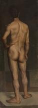 Daniele Ranzoni (attribuito a), Nudo maschile