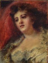 Daniele Ranzoni, Ritratto della cantante Ravené