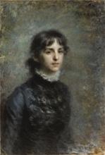 Daniele Ranzoni, Ritratto diAntonietta Tzikos di Saint Leger