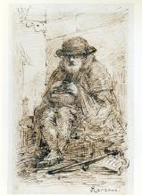 Daniele Ranzoni, Ritratto di vecchio mendicante