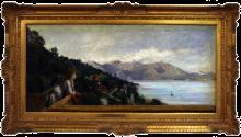 Daniele Ranzoni, Veduta del lago Maggiore dalla villa di Ada Troubetzkoy