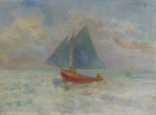 Redon, La barca rossa | Le bateau rouge | The red boat