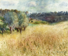 Renoir, Campo di grano | Champ de blé | Wheat field | Campo de trigo