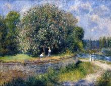 Pierre-Auguste Renoir, Castagno in fiore | Marronnier en fleurs | Blühender Kastanienbaum