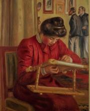 Renoir, Christine Lerolle che ricama.jpg