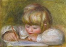 Renoir, Coco che scrive | Coco écrivant | Coco writing