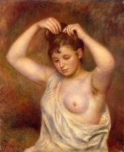 Renoir, Donna che si sistema i capelli.jpg