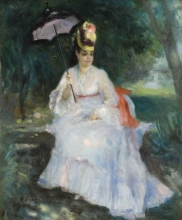 Renoir, Donna con l'ombrello seduta in giardino.jpg