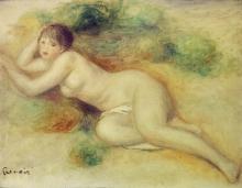 Pierre-Auguste Renoir, Figura nuda di ragazza | Nude figure of a girl