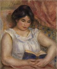 Renoir, Gabrielle che legge | Gabrielle lisant | Gabrielle reading | Gabrielle bei der Lektüre