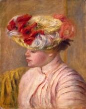 Renoir, Giovane donna con il cappello ornato di fiori.jpg