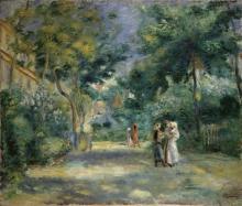 Pierre Auguste Renoir, Il giardino dello Château des Brouillards a Montmartre | The garden at the Chateau des Brouillards, Montmartre