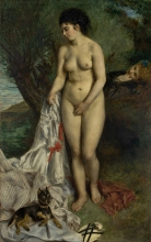 Renoir, La bagnante e il cane grifone | La baigneuse et le chien griffon | A banhista e o cão grifon | A banhista e o cão grifon
