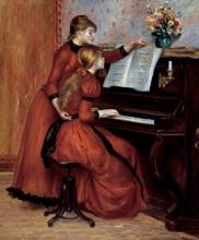Renoir, La lezione di piano | La leçon de piano | Young girls at the piano