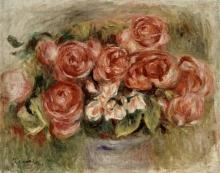 Pierre-Auguste Renoir, Natura morta di rose in un vaso