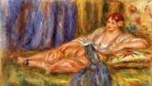 Renoir, Odalisca sdraiata | Odalisque couchée [dettaglio] | Liggende odalisk | Reclining odalisque