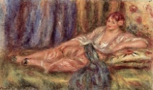 Renoir, Odalisca sdraiata | Odalisque couchée | Liggende odalisk | Reclining odalisque