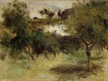 Pierre Auguste Renoir, Paesaggio con alberi | Landscape with trees