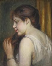 Pierre-Auguste Renoir, Ragazza che si pettina | Jeune fille se peignant
