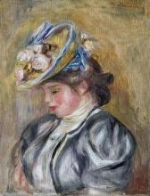 Renoir, Ragazza con cappello floreale [1895 circa].jpg