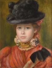 Renoir, Ragazza con cappello nero a fiori rossi.jpg