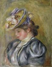 Renoir, Ragazza con cappello ornato di fiori.jpg