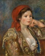 Renoir, Ragazza in giacca spagnola | Flicka i spansk jacka | Fille en veste espagnole | Girl in a Spanish jacket