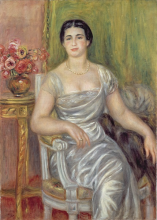 Renoir, Ritratto della poetessa Alice Valliere-Merzbach | Portrait de la poétesse Alice Vallière-Merzbach | Portrait of the poet Alice Vallière-Merzbach