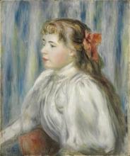 Renoir, Ritratto di giovane donna | Portrait of a young woman
