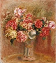 Pierre-Auguste Renoir, Rose in un vaso di Sèvres   Roses dans un vase de Sèvres