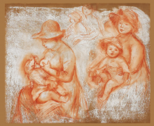 Renoir, Studi per madre e figlio | Études pour mère et enfant | Studies for mother and child