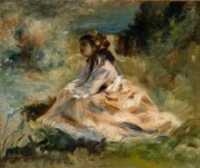 Renoir, Una donna seduta nell'erba | Kvinde siddende i græsset (Lise Tréhot)