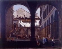 Pietro Ronzoni, Veduta di Casa Canonici in Bergamo Alta