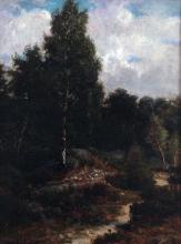 Rousseau Théodore, Foresta di Fontainebleau | Forêt de Fontainebleau | Forest of Fontainebleau | Bosque de Fontainebleau