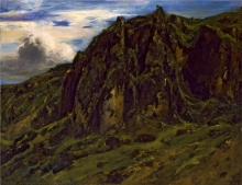 Rousseau Théodore, Paesaggio in Alvernia | Paysage in Auvergne | A landscape in Auvergne