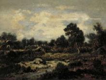 Rousseau Théodore, Paesaggio vicino a Fontainebleau | Paysage près de Fontainebleau | Landscape near Fontainebleau