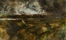 Théodore Rousseau, Tempesta sul Monte Bianco, effetto di tuono | Tempête sur le Mont Blanc, effet de tonnerre | Storm over Mont Blanc, thunder effect