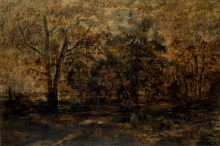 Rousseau Théodore, Tramonto nella foresta | Coucher de soleil dans la forêt | Sunset in the forest