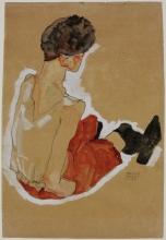 Egon Schiele, Donna seduta | Seated woman