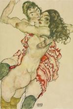 Egon Schiele, Due donne che si abbracciano | Two women embracing