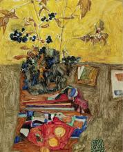 Egon Schiele, Natura morta con fiori   Still life with flowers