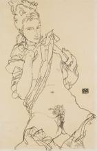 Egon Schiele, Nudo seduto   Seated nude