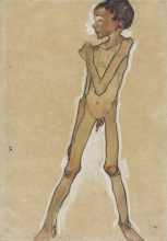 Egon Schiele, Ragazzo nudo in piedi | Standing nude boy