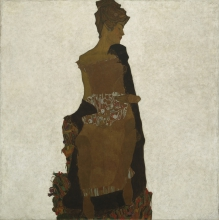 Egon Schiele, Ritratto di Gerti Schiele   Bildnis Gerti Schiele   Portrait of Gerti Schiele